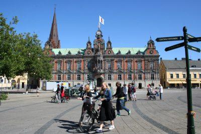 Stortorget i Malmö med vackra Rådhuset