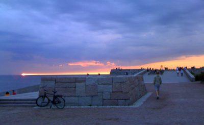 Solnedgång från Västra Hamnen i Malmö