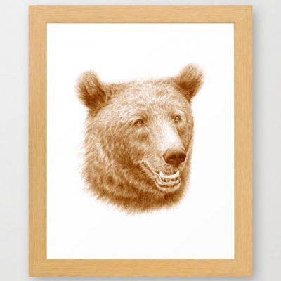 Poster med tecknad björn print on demand