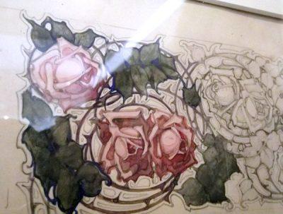 skiss Anna Ankarcrona konstnär ornamentik