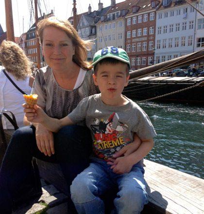 Nyhavn in Copenhagen a sunny day