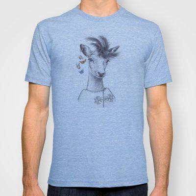 tröja med tryck kronhjort printed deer drawing on tshirt