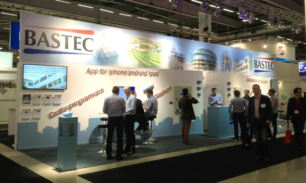Bastec exhibition at industry expo Nordbygg Stockholm Sweden 2014