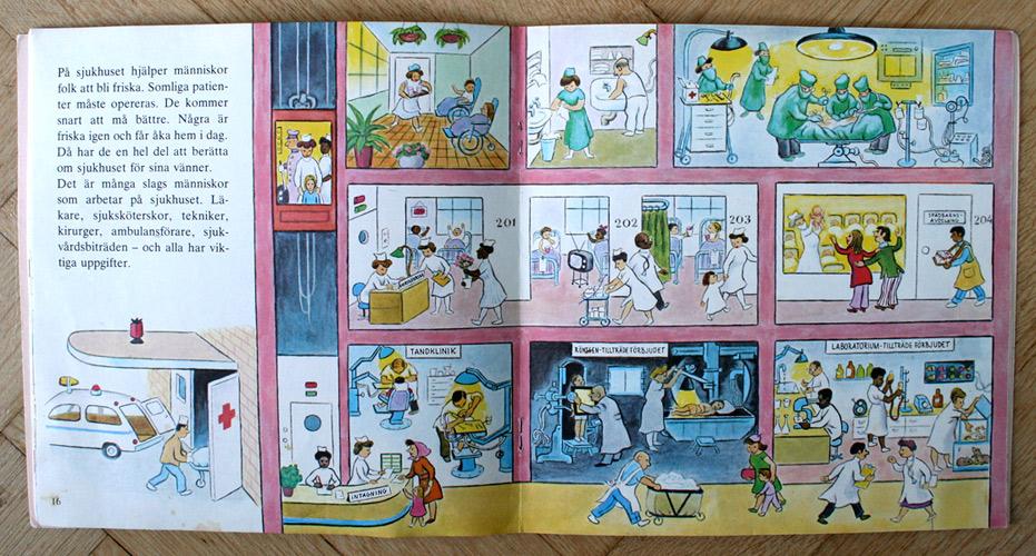 Vintage retro barnbok illustrerad av Tibor Gergely 1973