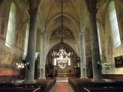 Interiör från medeltida gotlandskyrka