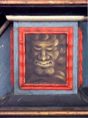 gotland kyrkokonst bänkdörr kyrkmålning monster