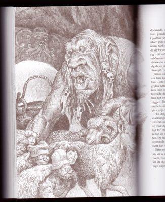 Alvaro Tapia boken Svenska folksagor illustratör