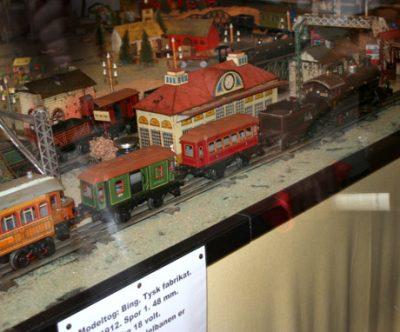 Egeskov slot vintage leksaker utställning modelljärnväg