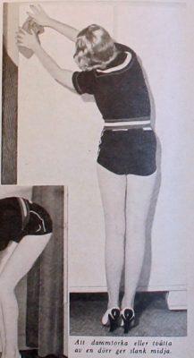 hemmafru gymnastik städning slank fin 1939