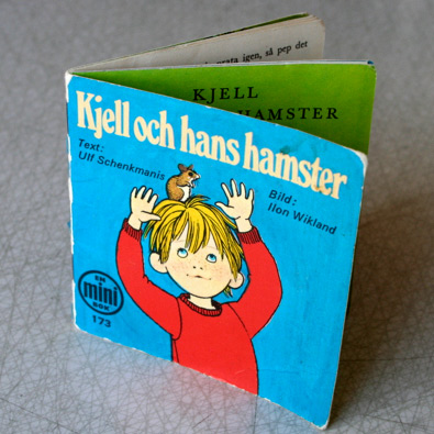 Omslag till lilla boke Kjell och hans hamster