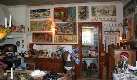 Lafvasgårdens Samlarmuseum köket