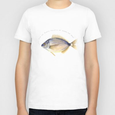 fish illustration lena svalfors hedin water color print tshirt