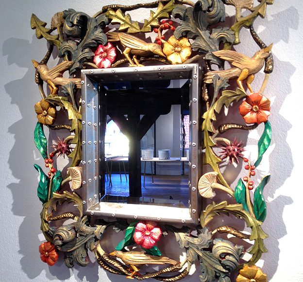 Mirror frame by wood carver Carsten Nilsson