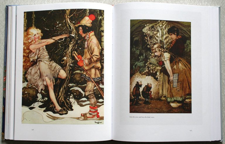 """Illustrations by Gustaf Tenggren 1932 from story """"Sven the vise and Svea the kind"""""""