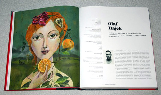 """A life in illustration"" story about-Olaf Hajek"