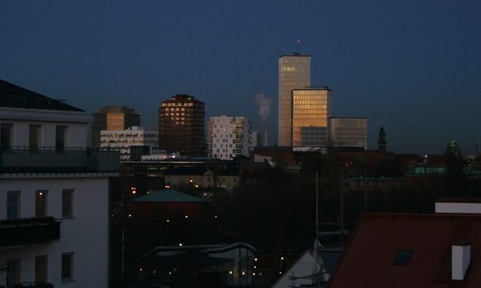 New tall buildings change my view in Malmö