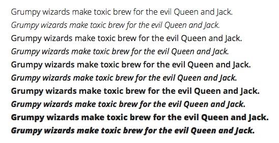 Textexempel från Google fonts