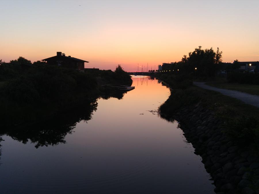 Solnedgång i Västra hamnen