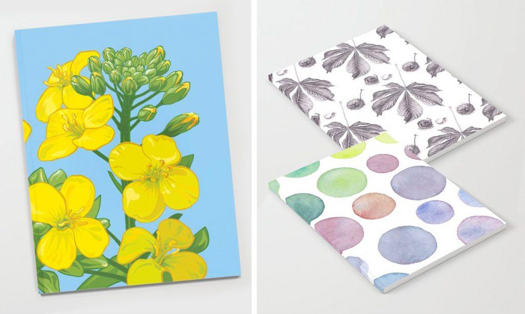 Anteckningsböcker med tecknade mönster av Lena Svalfors Hedin