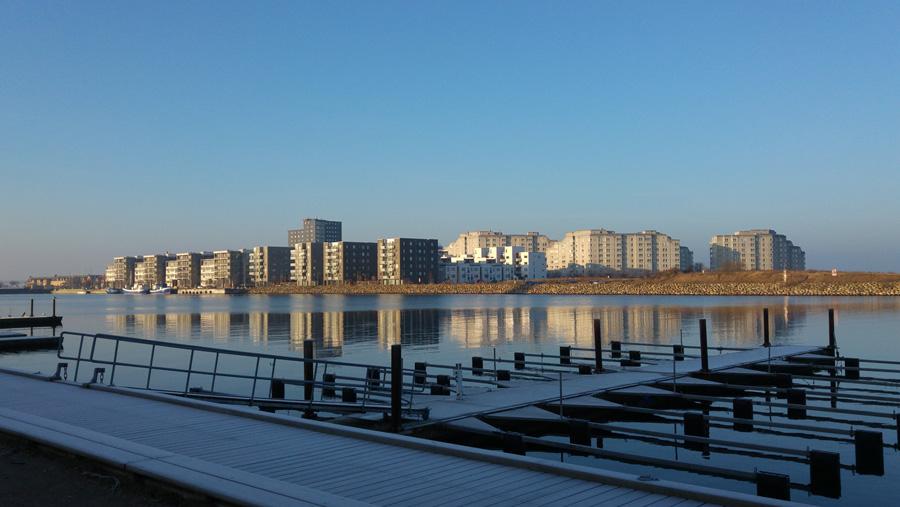Nybyggda hus på Ön i Limhamn