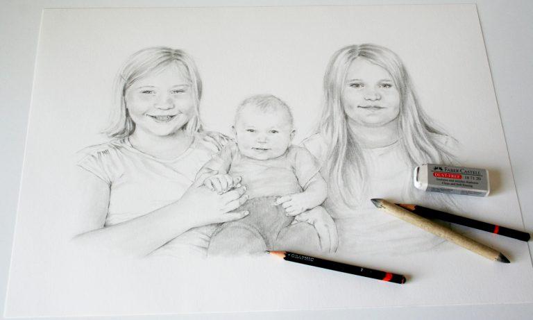 Foto av tecknat barnporträtt ritmaterial
