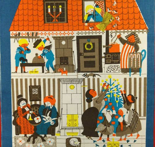 Vintage julbonad av Ylva Källström Eklund