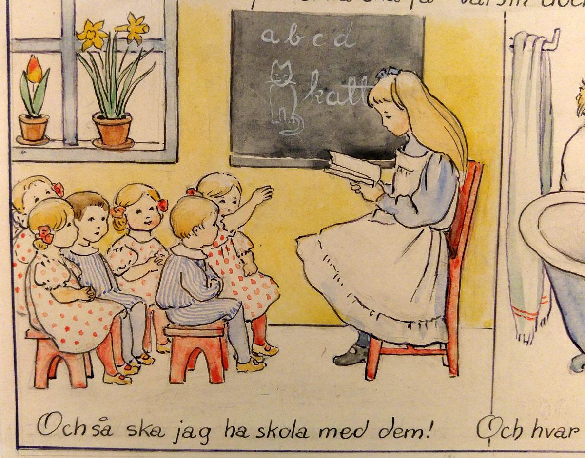 Elsa Beskow 1907 i Jultomten