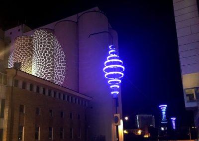 Ljusprojektion natt Malmö