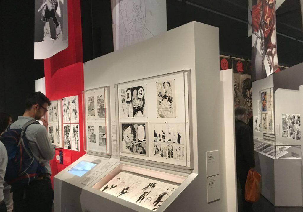 Olika stilar och teman på Manga-utställningen