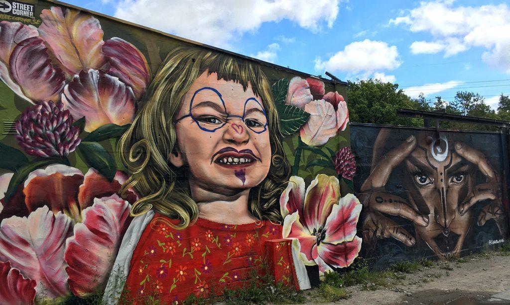 Graffiti i Snösätra Rågsved Stockholm sommaren 2020