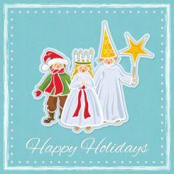 Swedish saint lucia holiday illustrator vector drawing