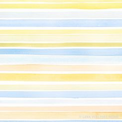 Pattern with handpainted stripes in yellow and blue